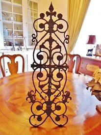 Large Decorative Wrought Iron Easle/Stand