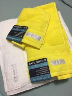 Sheridan Bath Towels (2) hand towels & face washer