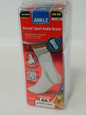Mueller AirCast Sport Stirrup Sprain Prevention Ankle Brace, White LEFT Ankle