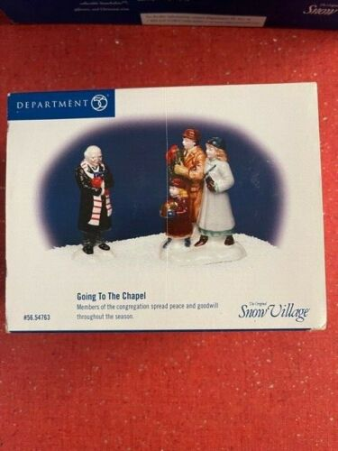 DEPT 56 SNOW VILLAGE Accessory GOING TO THE CHAPEL NIB