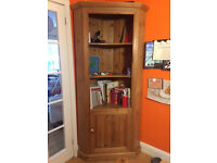 Corner Display Book case shelving and storage unit in antique pine upcycle?
