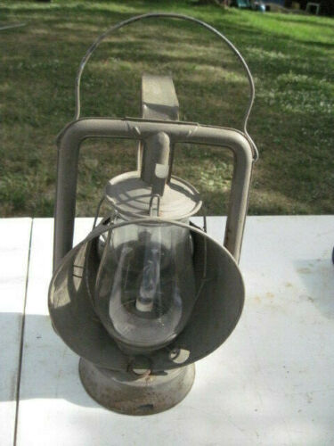 Vintage Star Head Light & Lantern Co Lantern w/ Globe Electrified