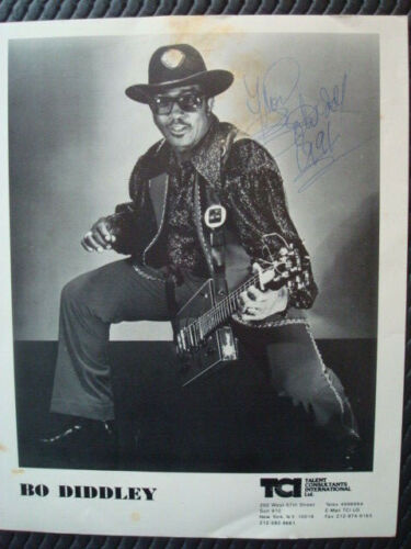 BO DIDDLEY BLUES AUTOGRAPHED PRESS PHOTO