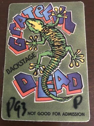 Grateful Dead 1993 Spectrum backstage pass (P93P) on front