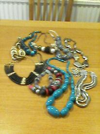 Costume Jewellery,10 necklaces.