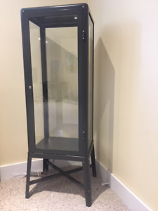 Glass Display Cabinet with Shelves