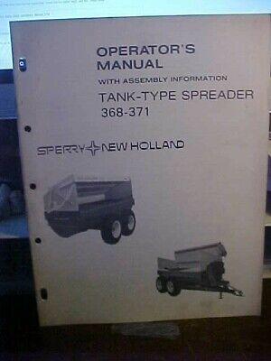 New Holland Om Tank-type Spreader 368-371  1l