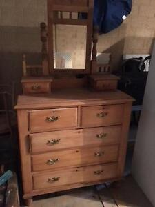 Antique pine dressing table Como South Perth Area Preview