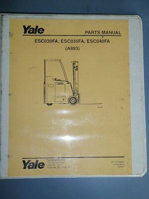 Yale Parts Manual Esc030fa Esc035fa Esc040fa A883 Electric Fork Lift