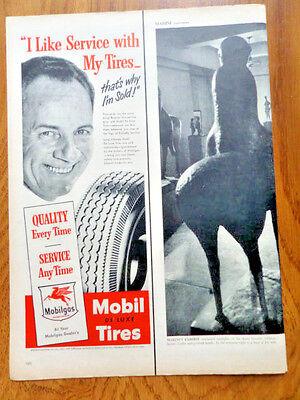 1950 Mobil Mobilgas Ad   De Luxe tires