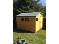 10ft x 7ft Wooden Garden Apex Shed
