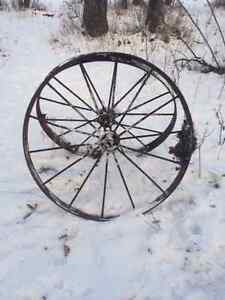 Antique Steel Wheels Edmonton Edmonton Area image 1