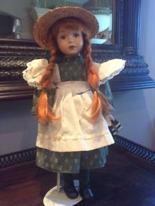 Charming Porcelain Anne of Green Gables Doll