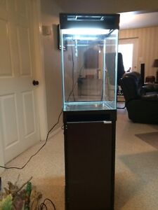 15' gal columnar tank and stand like new with all accessories Strathcona County Edmonton Area image 1