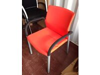 1 x Orange fabric seat and back Meeting chair - £5.00