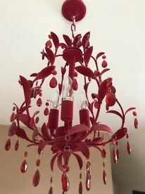 Red Chandelier - suitable for bedroom, living room or dining room