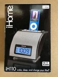 (NEW) iHome IH110B iPod Sound Alarm Clock Dock Station Player FM Radio - Black