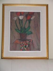 Peintures et reproductions encadrées