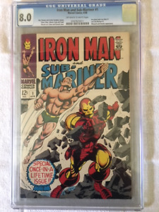 IRON MAN & SUB-MARINER #1 comic book - CGC 8.0 Blue Label.