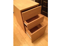 Home or Office Under Desk or Free Standing 3 Drawer Cabinet Filing Drawer