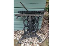 cast iron bench ends or table ends