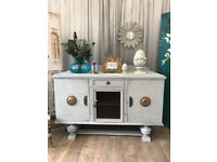 Shabby chic art deco style sideboard
