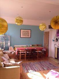 Large spacious bedroom in London maisonette