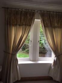 Luxurious Bespoke Dupion Silk Curtains in cream colour