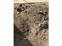 Good quality soil plus reclaimed bricks FREE