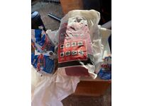 Unused bag to Floor/Wall Tile Adhesive and 3 bags of tile grout