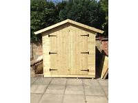 Wooden bespoke shed
