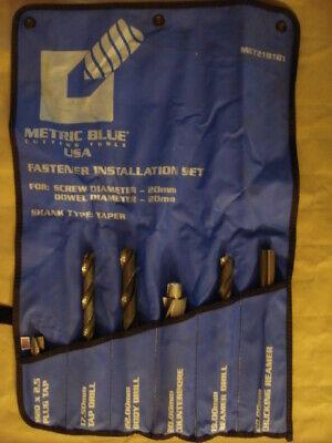 Metric Blue 20mm Screw Set Tap Drills Counterbore Reamer