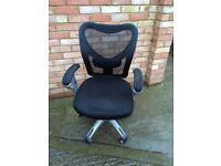 John Lewis Black Office Chair
