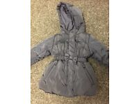 Marks and Spencer Girls Navy blue coat as new 12-18 months