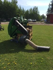 John deere grass collection system for 1500 series mowers