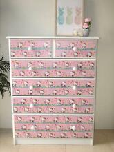 Large White & Pink Tallboy Dresser Drawers ~ Like NEW Varsity Lakes Gold Coast South Preview