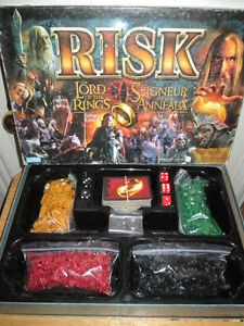 """***LORD OF THE RINGS/LOTR """"RISK"""" TRILOGY EDITION !!!***"""