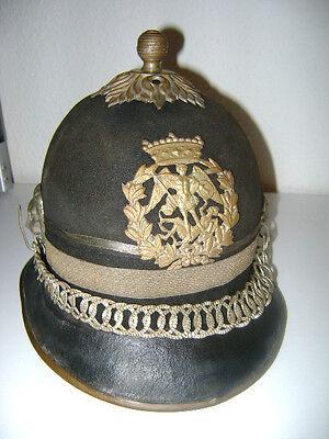 Pickelhaube für Offiziere  Brüssel um 1895 Originalstück
