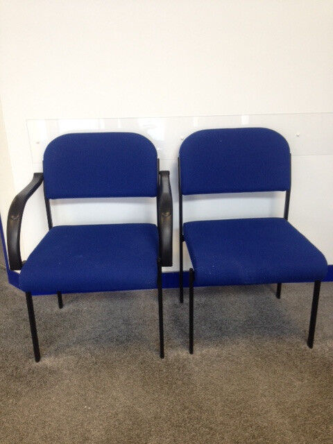 Pair of waiting room chairs
