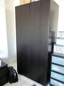 Tall black wardrobe - Ikea