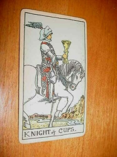 SINGLE VINTAGE TAROT CARD KNIGHT OF CUPS