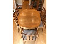 Nathan Teak Dining Room Table (extendable) and 6 Chairs