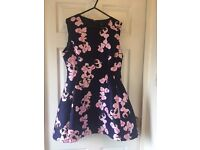 AX Paris - navy blue/pink floral dress