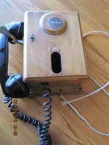 Northern Electric Wood Wall Phone 1920's