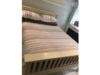 Fabulous Standard Double wooden bed frame in white