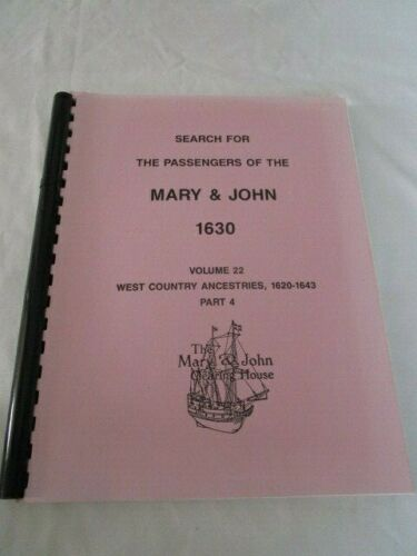 Search for the Passengers of Mary & John 1630 Volume 22