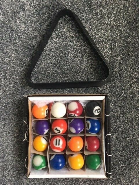 Set of Pool Balls 25mm and Triangle