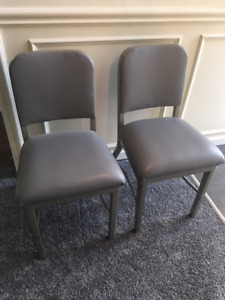 2 Vintage Industrial Mid Century Chairs