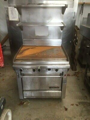 Garland Griddle Flatgrill Grill With Oven Shelf Range Mint Flat Grill Stove