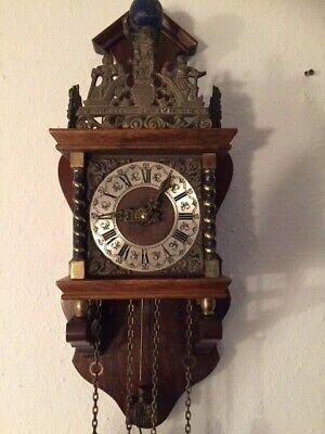 Alte mechanische Zaanse Wanduhr  Pendeluhr  Friesenuhr  Uhrwerk FHS, gebraucht gebraucht kaufen  Dresden